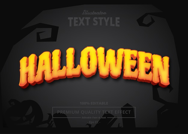 Effetto di testo di halloween