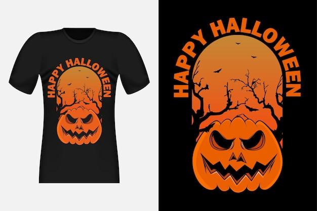 Dolcetto o scherzetto di halloween design vintage retrò t-shirt