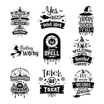 Disegno di tipografia di halloween