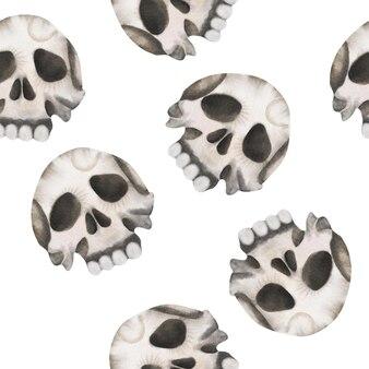 Fondo del modello della palella dell'acquerello di halloween