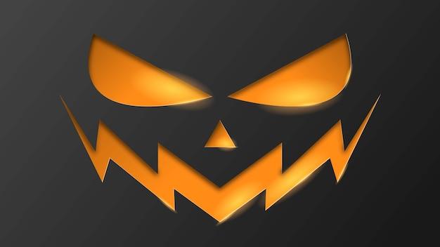 Halloween con zucca arancione