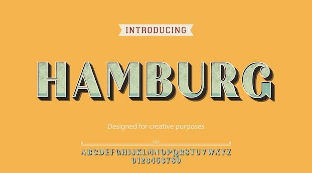Carattere tipografico di amburgo. per scopi creativi