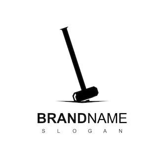 Modello di progettazione del logo del martello