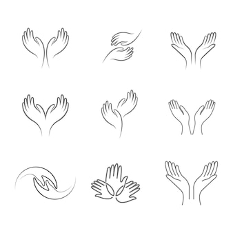 Icona di cura delle mani modello illustrazione vettoriale design