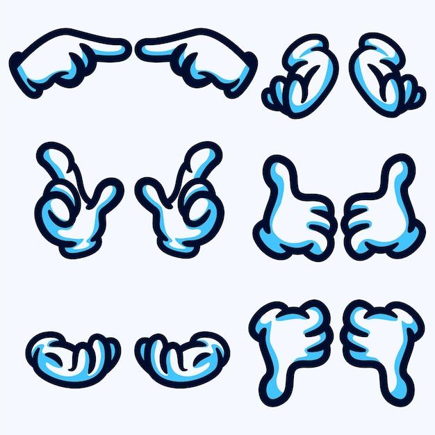 Animali del cranio del carattere della mano