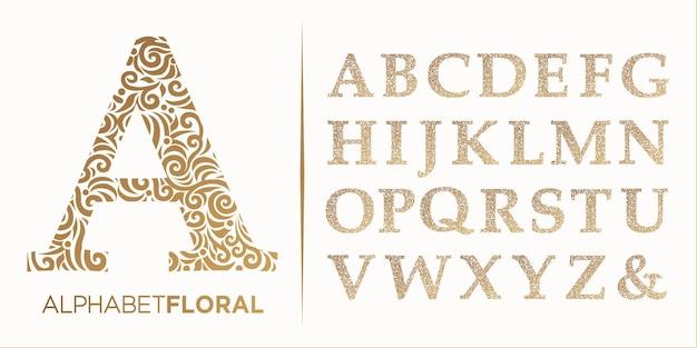 Disegnare a mano lettera decorativa az logo alfabeto vector