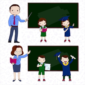 Insegnante e studente di disegno a mano