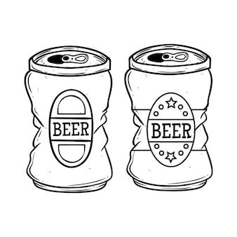 Lattina di birra disegno a mano