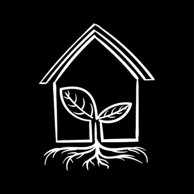 Illustrazione del disegno a mano del concetto sostenibile dell'ambiente
