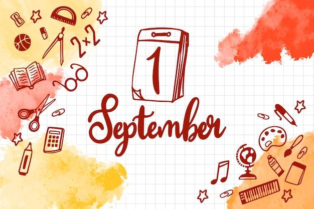 Lettere del 1 settembre disegnate a mano