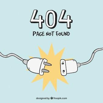 Errore 404 disegnato a mano