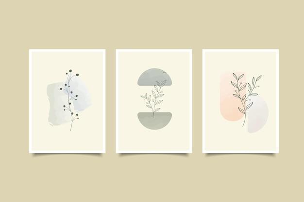 Collezione di copertine astratte disegnate a mano