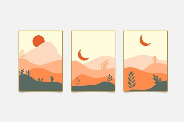 Copertina di paesaggio astratto disegnato a mano