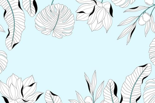 Sfondo di foglie astratte disegnate a mano