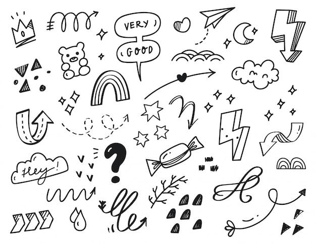 Doodle di scarabocchio astratto disegnato a mano