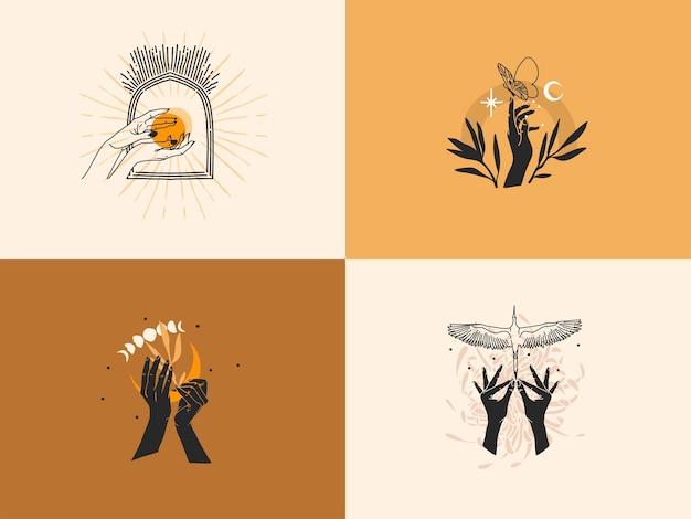 Illustrazione grafica stock astratta disegnata a mano