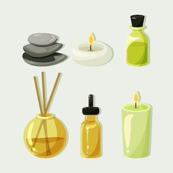 Elementi di aromaterapia disegnati a mano