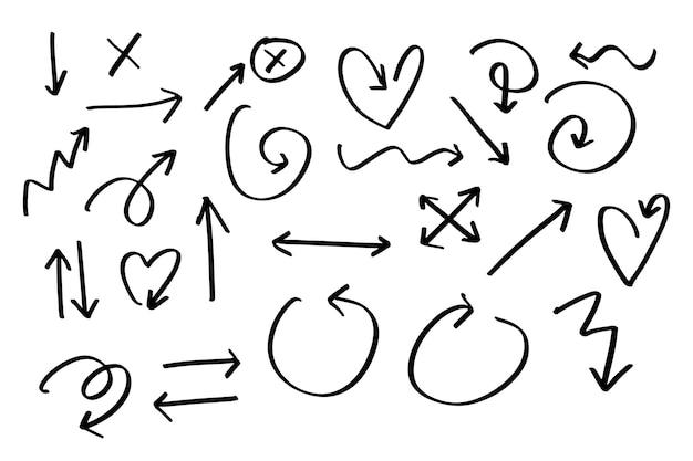 Frecce disegnate a mano