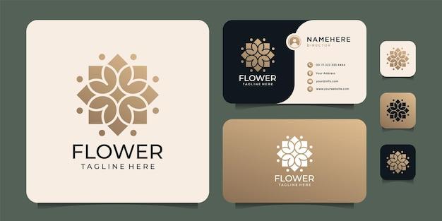 Logo di fiori autunnali disegnati a mano
