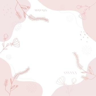 Sfondo disegnato a mano di varie forme carine.