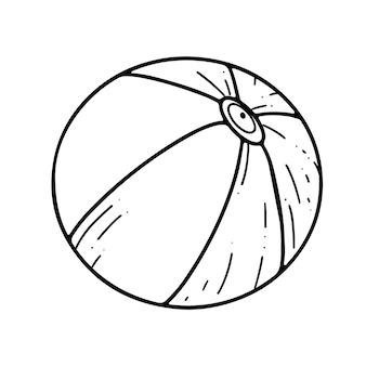 Elemento grafico disegnato a mano dell'illustrazione di scarabocchio di vettore di scarabocchio della palla