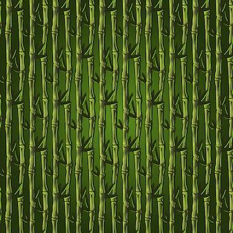 Carta da parati floreale senza cuciture di bambù disegnata a mano del modello