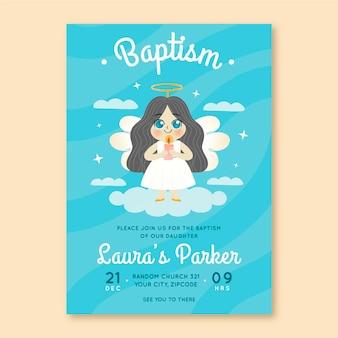Invito battesimo disegnato a mano