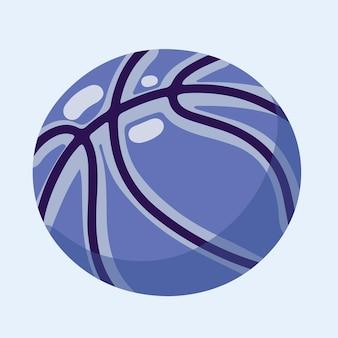 Basket disegnato a mano isolato su uno sfondo bianco. illustrazione vettoriale