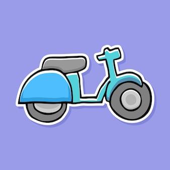 Disegno del fumetto della bici disegnato a mano
