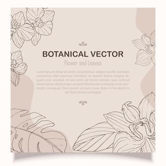 Modello floreale botanico disegnato a mano