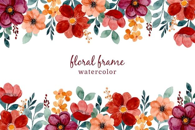 Sfondo floreale bordeaux e marrone disegnato a mano