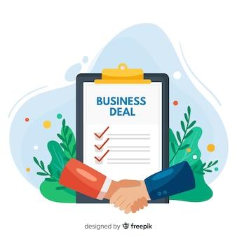 Concetto di affare di affari disegnati a mano Vettore Premium