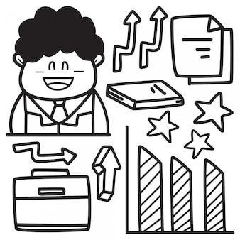 Disegno di doodle di affari disegnati a mano