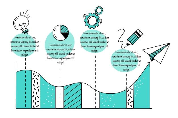 Infographics di affari disegnati a mano