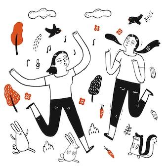 Illustrazione del fumetto disegnato a mano