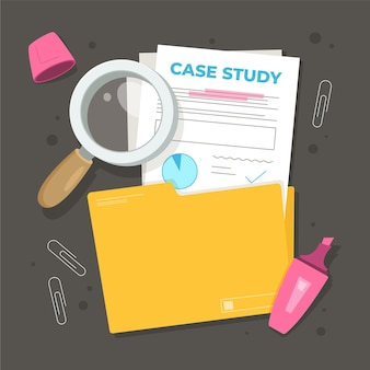 Illustrazione di casi di studio disegnati a mano