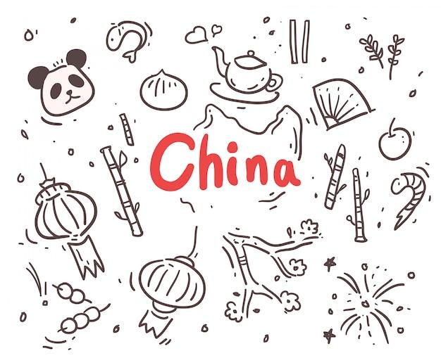 Cina disegnata a mano