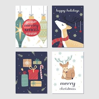 Cartoline di natale disegnate a mano