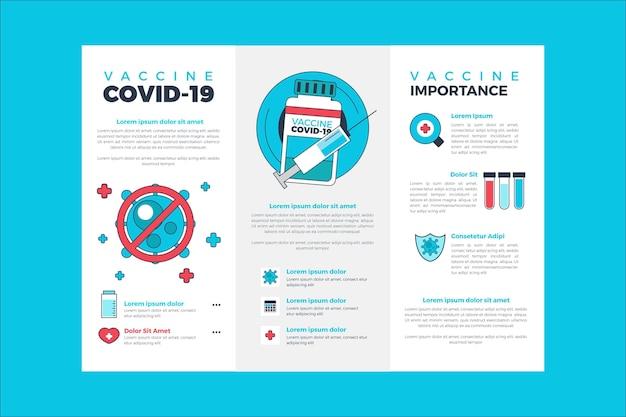 Brochure informativa sulla vaccinazione contro il coronavirus disegnata a mano