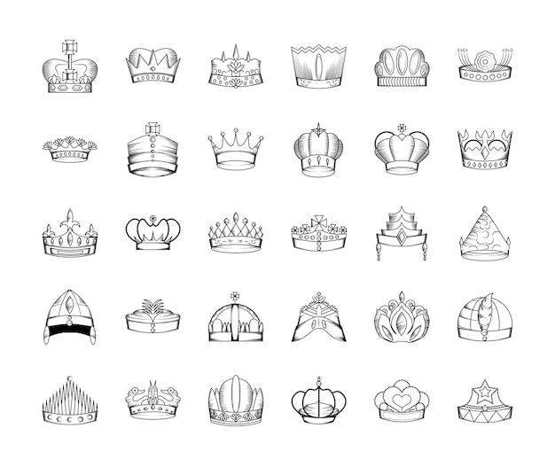 Corona disegnata a mano
