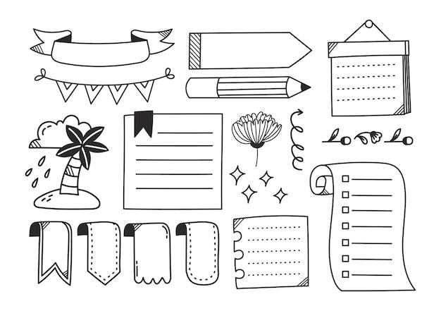 Doodle carino giornale disegnato a mano