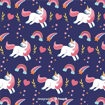 Modello di unicorno carino disegnato a mano