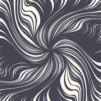 Linee di spirale di inchiostro decorativo disegnato a mano struttura a spirale sfondo astratto