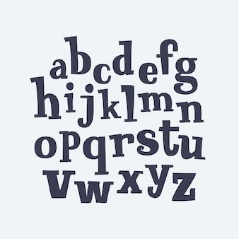 Disegnato a mano decorativo serif vintage lettere abc minuscole