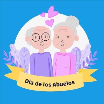 Illustrazione disegnata a mano di dia de los abuelos