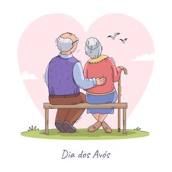 Illustrazione disegnata a mano dia dos avos