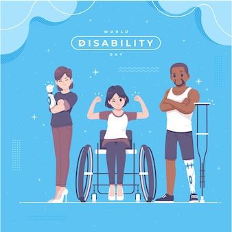 Illustrazione disegnata a mano del giorno della disabilità