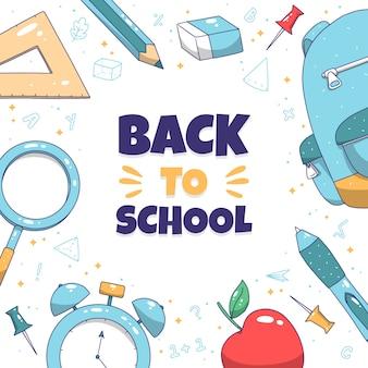 Doodle disegnato a mano torna a scuola