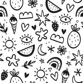 Reticolo di doodle disegnato a mano