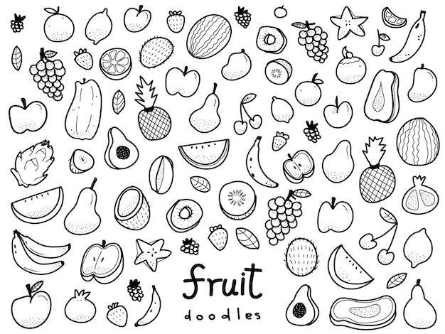 Illustrazione di frutta disegnata a mano in stile doodle